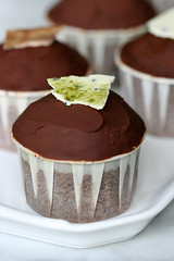 dark chocolate truffle cupcakes