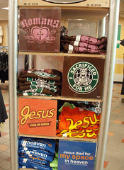 Who knew Jesus was an Adbuster? (mediageek) Tags: jesus myspace truckstop starbucks christianity adbusters situationist detournement reeces debord iowa80