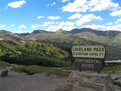 Loveland Pass, along the Continental Divide