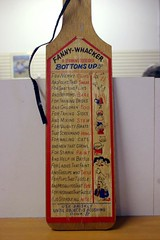 Fanny-Whacker! (gwen) Tags: 20d vintage salvationarmy paddle retro thrift alameda spank tchotchke 070831 fannywhacker
