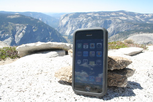 Photo of the Day: iPhone atop Half Dome! by Min Liu