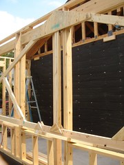 DSC01805 (Hal Klein) Tags: kitchen drywall austin construction diningroom framing studs remodeling addition roofing trusses sheetrock quinntrail