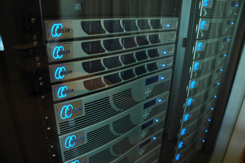 Isilon servers stacked by Wonderlane