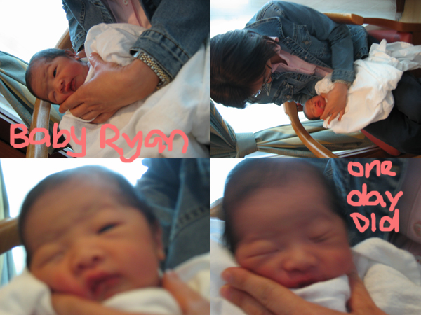 baby ryan one day old