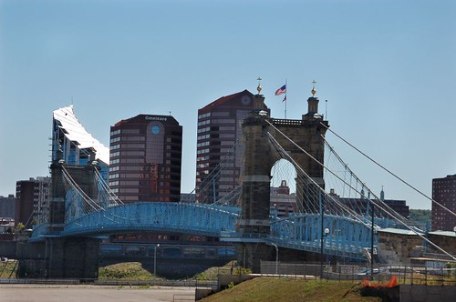 John A. Roebling Suspension Bridge / Cincinnati - Covington Bridge