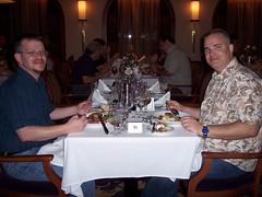My brother enjoys dinner with me (TakeMeOnATrip) Tags: seas majesty 2007 majestyoftheseassept1721