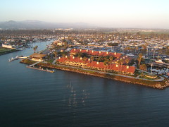Hotel (flyingcamera) Tags: ocean california above kite beach water keys photography boat flying surf wind aerial kap aerialphotography ventura kiteaerialphotography rokkaku venturakeys