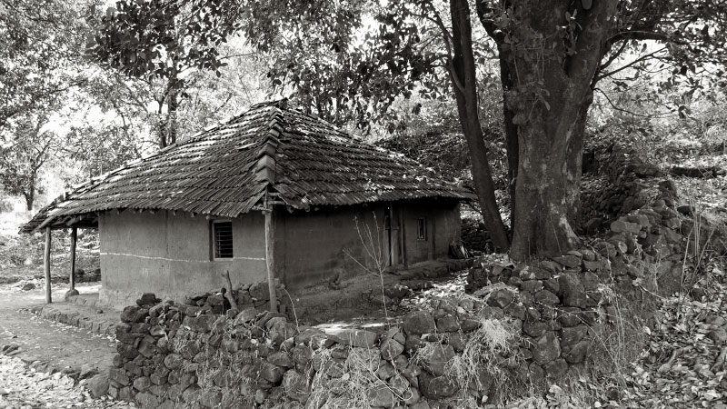 road side village hut