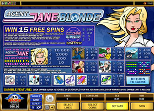 free Agent Jane Blonde slot mini symbol
