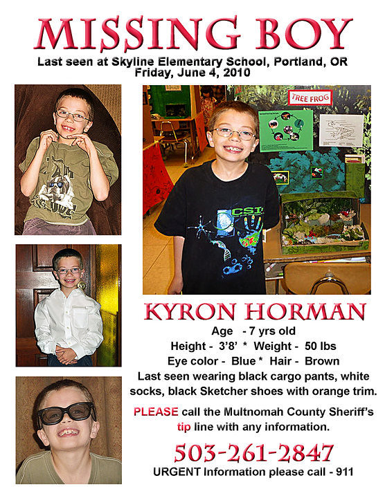 Kyron Poster. Kyron, where are you?