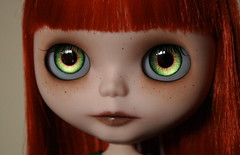 With her pretty green eyes (Zaloa27) Tags: eyes doll greeneyes blythe freckles custom redhair modmolly handpaintedeyechips zaloa27