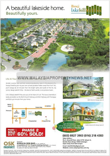 Bangi Lakehill Villas Semi-D house for sale