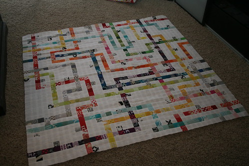 Tokyo Subway Map Quilt Along Top- Done!