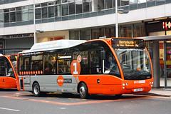UK - Manchester bus (onewayticket) Tags: urban bus transport first hybrid optare firstgroup dieselelectric metroshuttle optaresolo alltypesoftransport optaresolohybrid yj60kcu