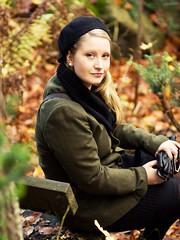 The Model (Part 2) (zapisol) Tags: autumn portrait girl forest gteborg sara beret portrtt