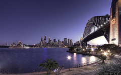 Sydney from Kirribilli (Sarmu) Tags: city bridge light sunset wallpaper urban building skyline architecture night skyscraper lights twilight highresolution downtown cityscape view skyscrapers nightshot harbour widescreen sydney australia landmark icon 1600 nsw highdefinition resolution newsouthwales 1200 cbd hd bluehour wallpapers iconic harbourbridge 1920 vantage 2007 sydneyharbourbridge vantagepoint ws 1080 1050 720p 1080p urbanity portjackson 1680 720 2560 sarmu