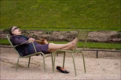 (Shemer) Tags: park old sleeping woman green lady sleep