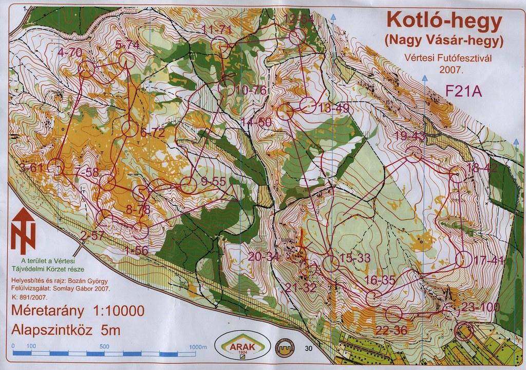 Kotló-hegy térkép