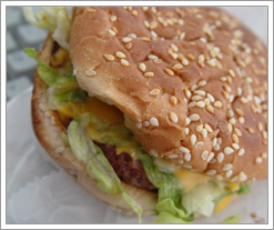 Great cheeseburgers are piping hot