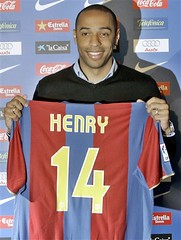 SPAIN SOCCER BARCELONA THIERRY HENRY