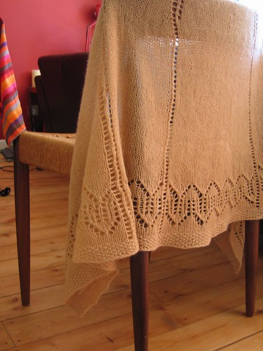 comfort shawl on chair
