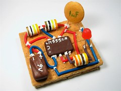 555 LED flasher 1: edible model of an electrical circuit