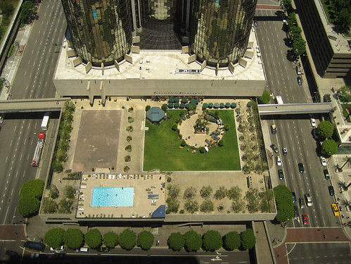 Park from above with pool