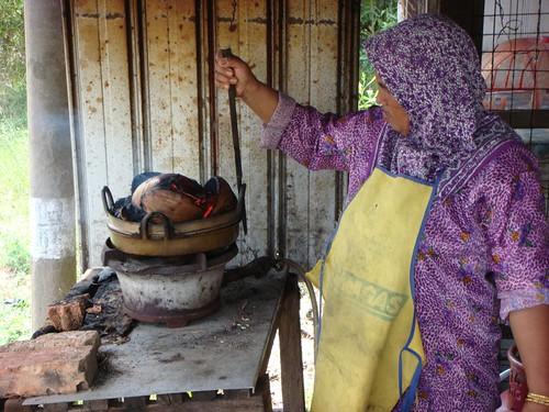 Pancake woman, Eastern Malaysia.