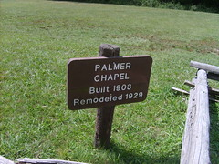 Cataloochee Chapel (Little Spooks) Tags: travel family summer vacation blackandwhite dog holiday flower cute girl animal statue headless dead death sad gray young july northcarolina canine creepy sorrow sights cataloochee riversidecemetery