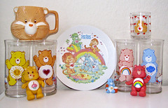 Care Bears Collectibles (sciencensorcery) Tags: glass toys dish plate cups 80s mug carebears eighties figures carebearcousins