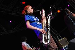 Lucy Baines on Tenor Sax (Rowstar) Tags: copyright festival sunday rowan 2008 copy mistysbigadventure greenman 2007 stanfield lastfm:event=129128