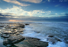 Perfect start on a perfect beach (sachman75) Tags: beach water sunrise rocks sydney 1022mm narrabeen hightide northernbeaches northnarrabeen 400d aplusphoto auselite