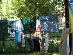 Laundry Day in the neighbourhood (Sharon's Shotz) Tags: interestingness sunday clothes laundry clotheslines washing drying