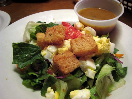 Texas Roadhouse house salad (minus cheese)