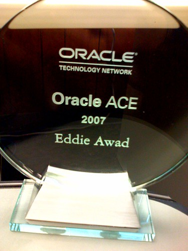 My Oracle ACE award