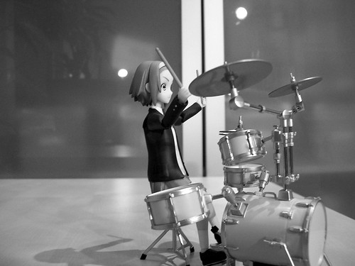 Ritsu with her drums