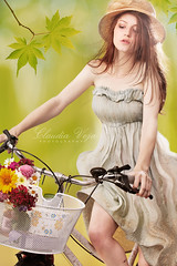 I love my bike (claudiaveja) Tags: flowers girl hat bike bicycle photography dress ride romania prints accessories twincities transylvania setting clujnapoca royaltyfree rightsmanaged eveniment claudiaveja corporateevent photosessions strobist fotocluj licenseimages claudiavejacomphotographycorporateevents