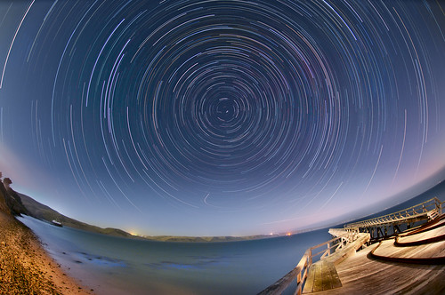 Star Trails over Drakes Bay