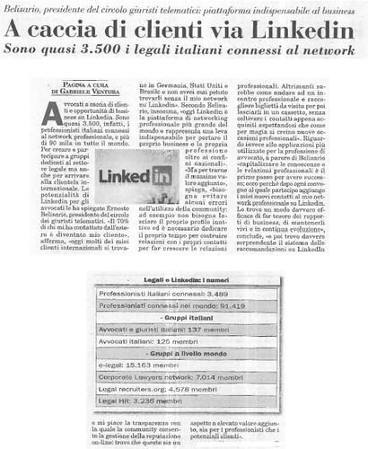 Intervista Italia Oggi del 24 giugno 2010
