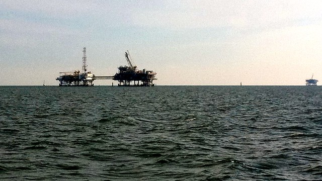 Oil rigs in Mobile Bay