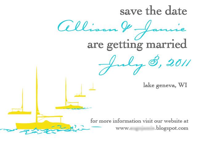 Allison & Jamie Save The Dates