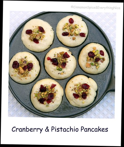 Cranberry and Pistachio Gluten-free Pancakes