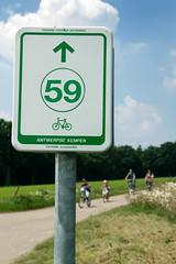 Cycling network board in region Antwerpse KempenStefan Jacobs (VISITFLANDERS) Tags: green bike sign cycling europe belgium board route network region flanders knooppunten visitflanders