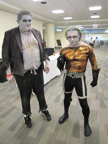 Solomon Grundy and Black Lantern Aquaman