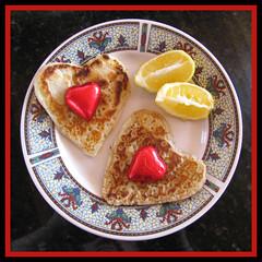 A Sweet Hearty Breakfast for my Sweetheart! %-) (Reflective Kiwi %-)) Tags: wedding holiday pancakes breakfast for heart sweet weekend chocolate anniversary away nz sweetheart whangarei 52wau2010 november132010 week462