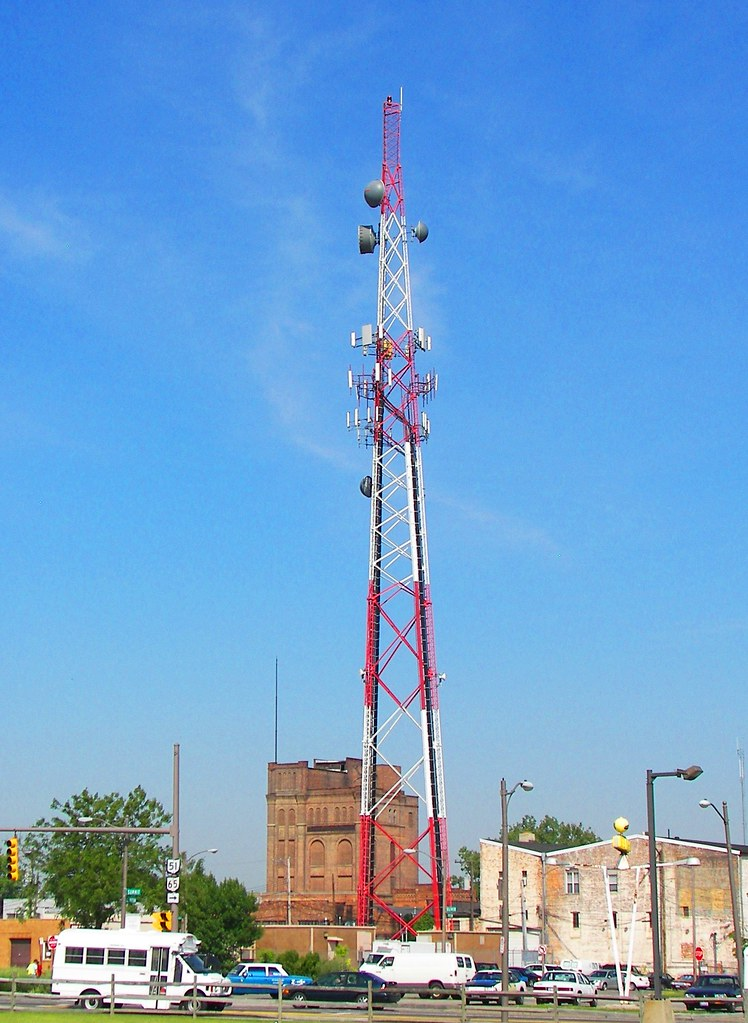 Communications tower in Toledo, OH near Summit Street and Clayton Street