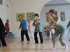 Students practice at Brookline Tai Chi