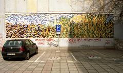 Wandbild am Spremberger Markt (sring77) Tags: film analog landscape mural mosaic kunst markt destroyed wandbild abris zerstrt spremberg canon500n horstring