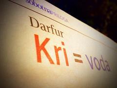 Darfur, sangre = agua