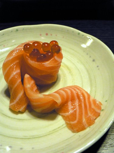 salmon belly sashimi